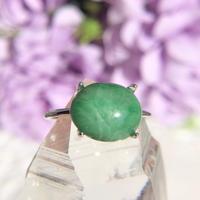 天然翡翠シルバーリング2.80ct(7,9,11,13,14号)☆ミャンマー産原石から磨きました!