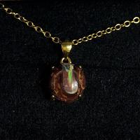 天然ボルダーオパールネックレス3.68ct☆ オーストラリア・ヤワー産の原石から磨きました