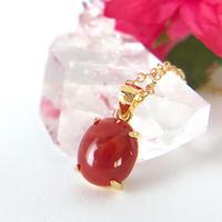 赤珊瑚(高知県土佐沖産)14kgfネックレス2.32ct☆ 原石から磨いた1点もの!