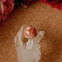 天然サンストーンタックブローチ6.88ct☆ 原石から磨いた1点もの