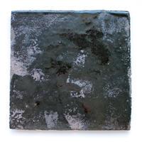 今西公彦:鉄釉四方皿(B2)