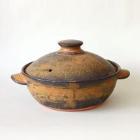 中尾雅昭:土鍋 205mm 茶