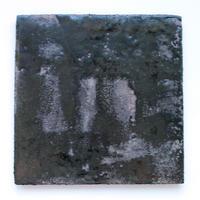 今西公彦:鉄釉四方皿(B5)