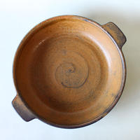 中尾雅昭:耐熱プレート 22cm 茶