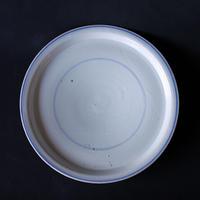 小泉敦信:青花輪線平皿(4)