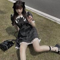 【B品】ブラックカップケーキワンピ