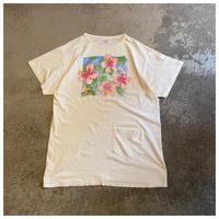 【レディース】1990s  花柄プリントTシャツ USA製