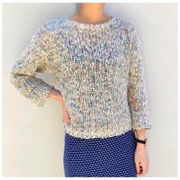 【レディース】1980s ローゲージニットセーター