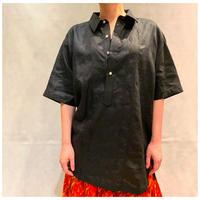 【レディース】1990s リネン刺繍シャツ