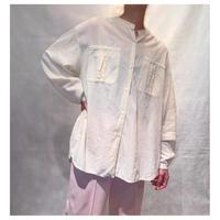 【レディース】1990s ガーゼスタンドカラーシャツ