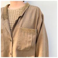 80年代 ローシルクブレンドシャツジャケット