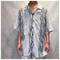 1990s ポリ総柄シャツ