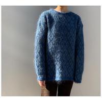 【レディース】1980s モヘアブレンドデザインニットセーター