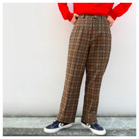 【レディース】1980s ポリプレイドスラックス