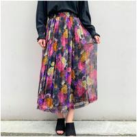 【レディース】1980s 花柄シアーマキシ丈スカート USA製