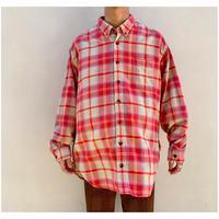 1990s オーバーサイズコットンプレイドシャツ ポルトガル製