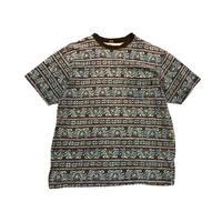 80s OLD STUSSY pocket t-shirt 総柄 表記XL