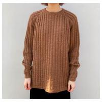 1980s モヘアブレンドケーブルニットセーター