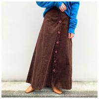 【レディース】1980s コーデュロイマキシ丈スカート カナダ製