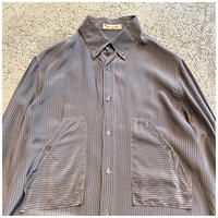 1960s シルクBDデザインシャツ イタリア製