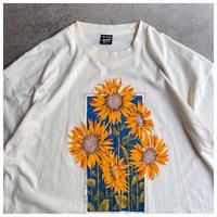 """1990s """"SUN FLOWER"""" プリントTシャツ USA製"""