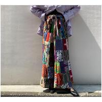 90年代 コットンパッチワークマキシ丈スカート