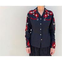 1970s 刺繍ウエスタンシャツ