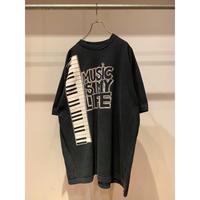 """90年代 """"MUSIC IS MY LIFE""""プリントTシャツ"""