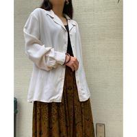 【レディース】シルクオープンカラーシャツ