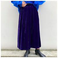 【レディース 】1980s ベロアマキシ丈スカート カナダ製