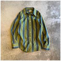 1960s ポリブレンドストライプシャツ USA製