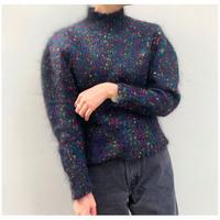 【レディース】1980sブラックモヘアミックスニットセーター