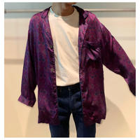 90年代 シルクオリエンタル柄シャツ