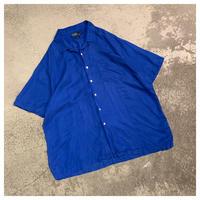 "1990s ""Ralph Lauren"" シルクブレンドオープンカラーシャツ"