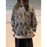 90年代 コットンブレンドデザインニットセーター イタリア製