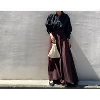 80年代 シルクロングテイルマキシ丈スカート USA製