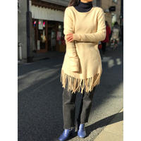 vintage cashmere knit sweater アイボリー 表記L