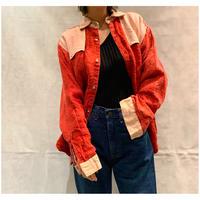 1980s リネンデザインシャツ