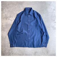 """1990s """"GIVENCHY"""" ポリ総柄ドレスシャツ"""