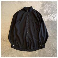 1990s レーヨンブレンドバンドカラーシャツ
