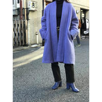 vintage mohair blend haori coat ブルー