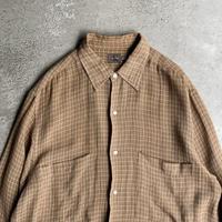 """1990s """"Calvin Klein""""オーバーサイズレーヨンブレンドプレイドシャツ"""