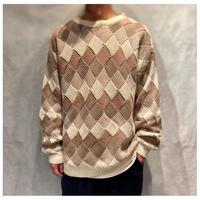 1990s コットンブレンドデザインニットセーター