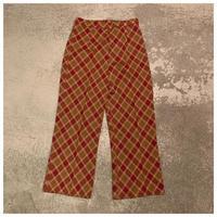 【レディース】1970s ポリプレイドイージーパンツ