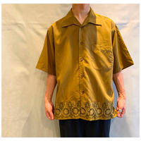 1990s レーヨンブレンド刺繍シャツ