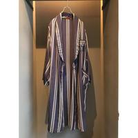 60s vintage rayon/silk gown coat ネイビー