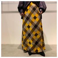 1970s 総柄マキシ丈スカート