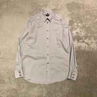 "1990s ""YVES SAINT LAURENT"" コットンブレンドドレスシャツ"