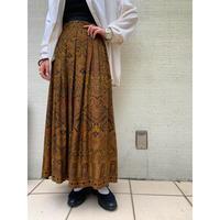 【レディース】ペイズリー柄プリーツスカート