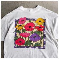 1990s フラワープリントTシャツ USA製